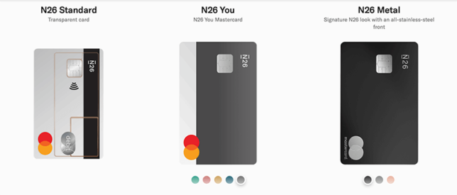 n26 choose card